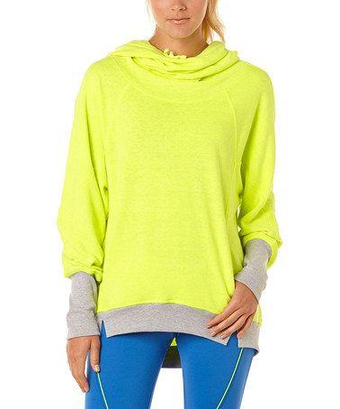 Love this Neon Yellow Fleece Hooded Sweatshirt by C&C California on #zulily! #zulilyfinds