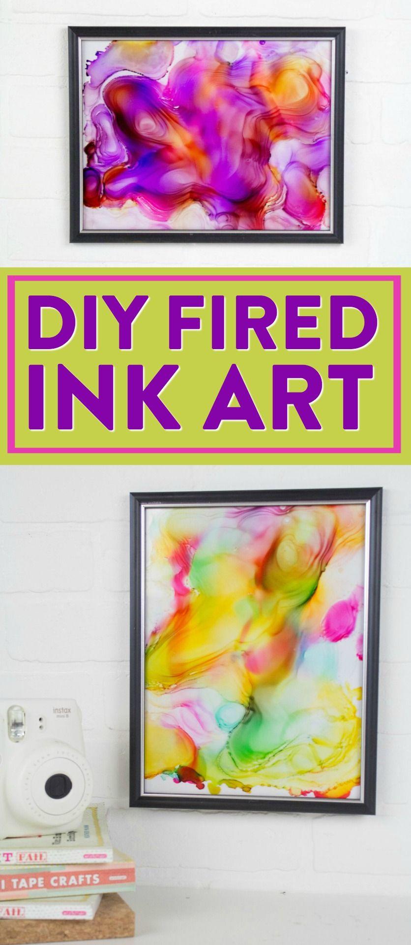 DIY Fired Ink Art   Ink art, Craft and Diy wall art
