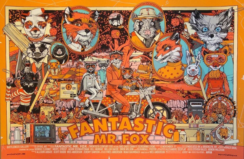 Tyler Stout Fantastic Mr Fox Mondo Prints This Is Also Why We Use Actual Photos Of The Print You Will Receive W Fantastic Mr Fox Fox Poster Poster Prints