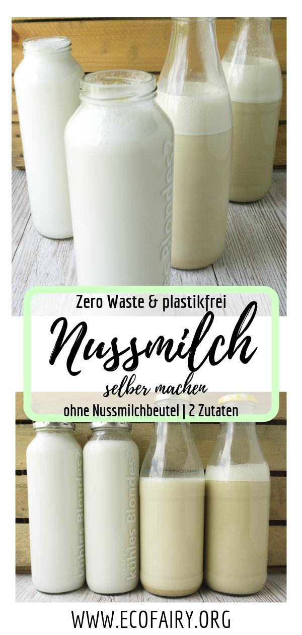 Zero Waste Nussmilch aus 2 Zutaten (ohne Nussmilchbeutel!)