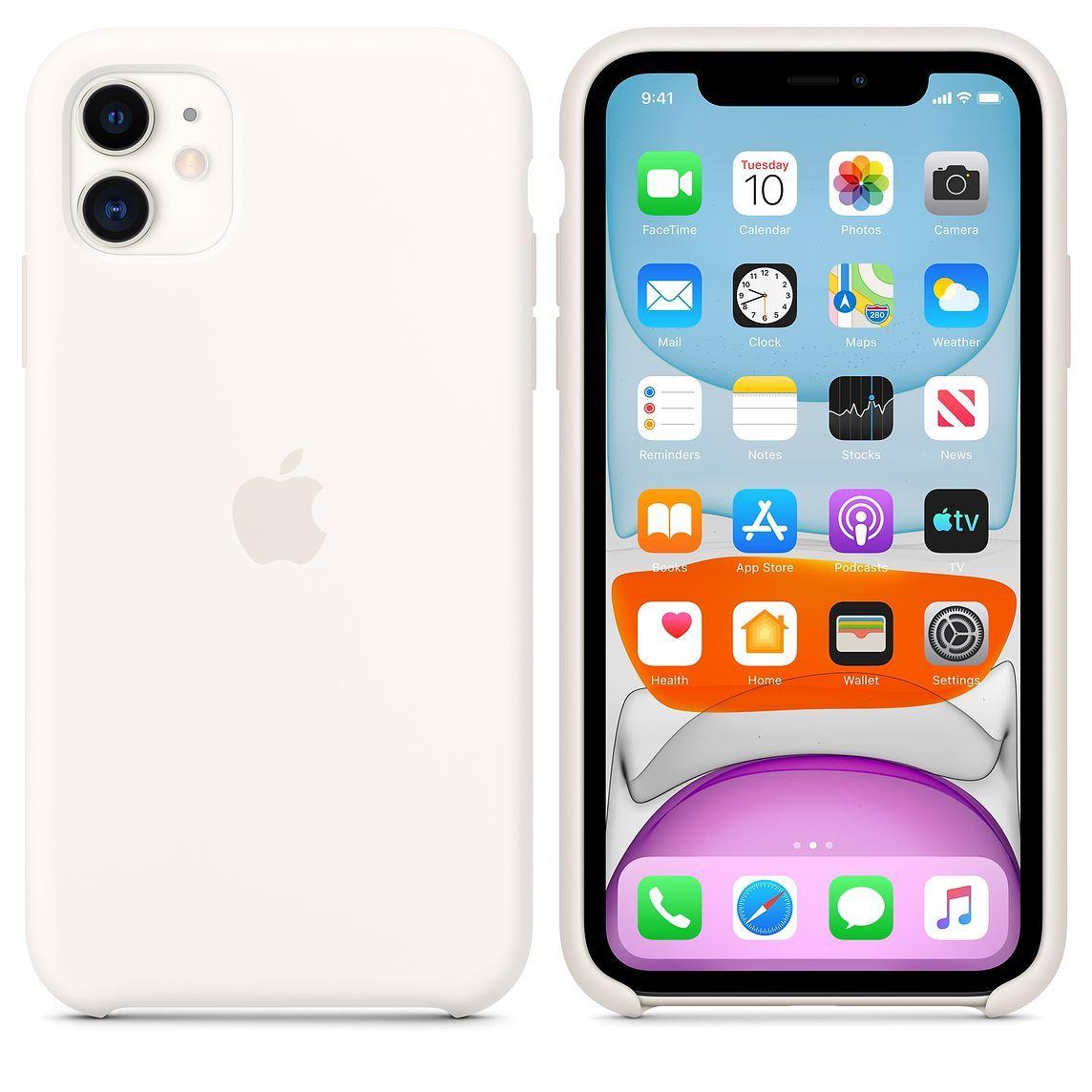Iphone 11 Silicone Case Soft White Apple Iphone Case Pretty