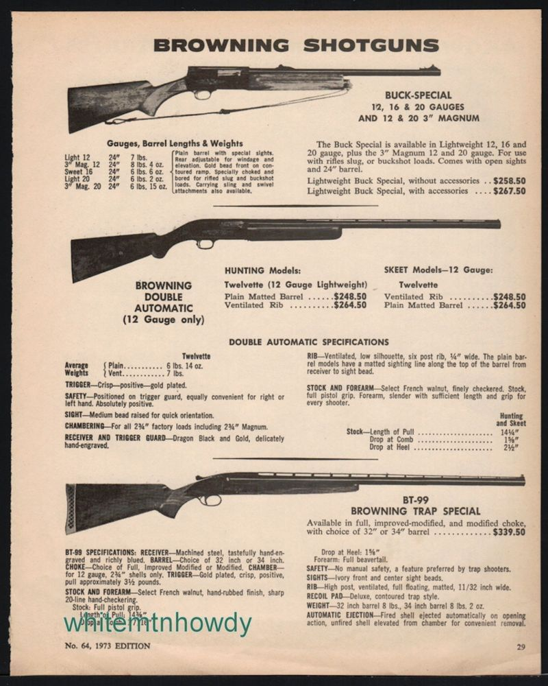 1973 browning buck specialdouble auto trap special shotgun ad 1973 browning buck specialdouble auto trap special shotgun ad pooptronica