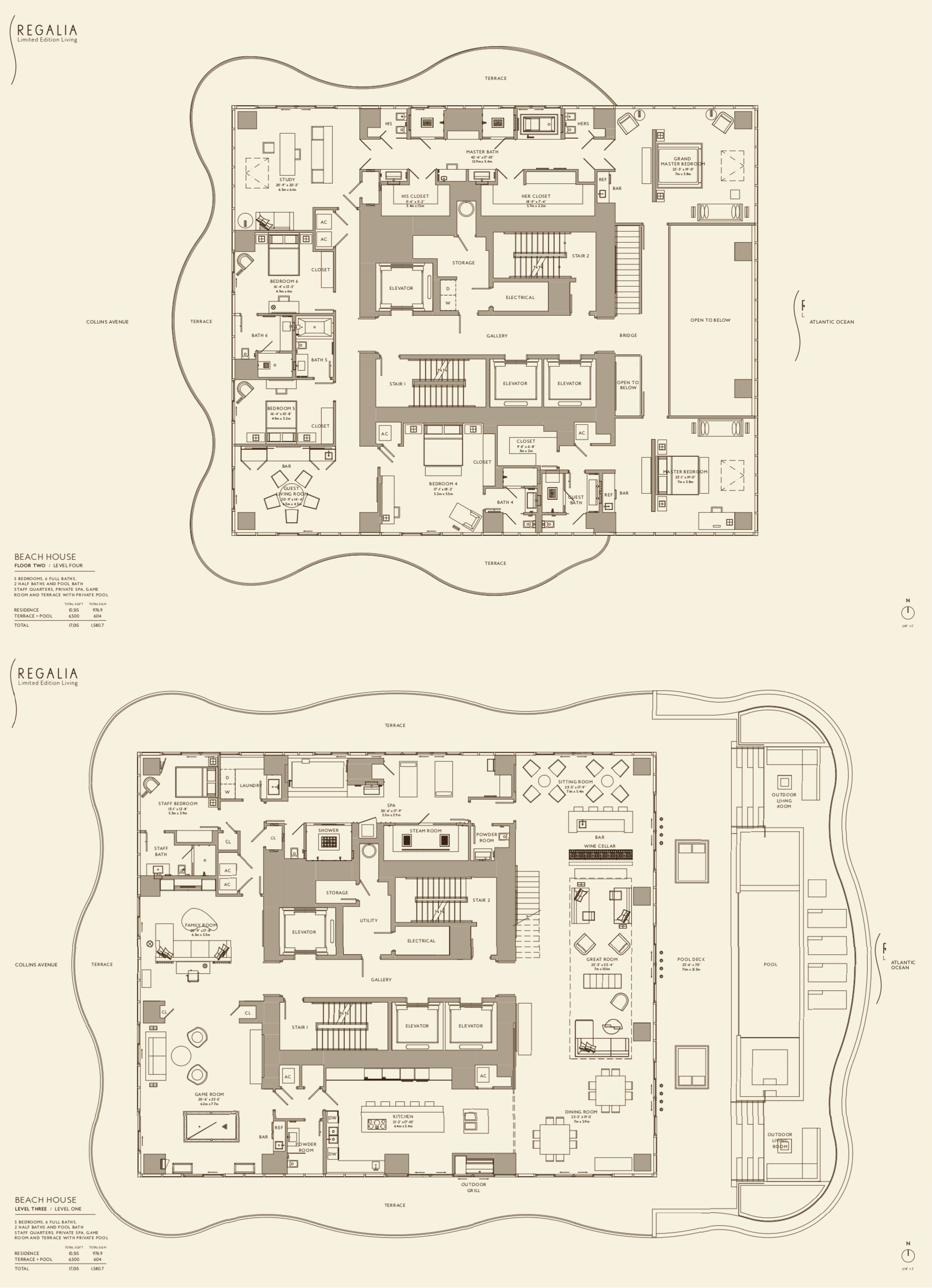 Regalia Miami Beach House Miami Beach House Apartment Floor Plans Floor Plans