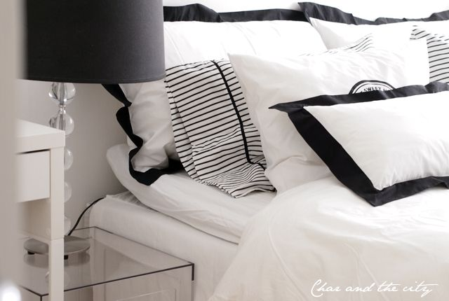 black and white high thread count bedlinen