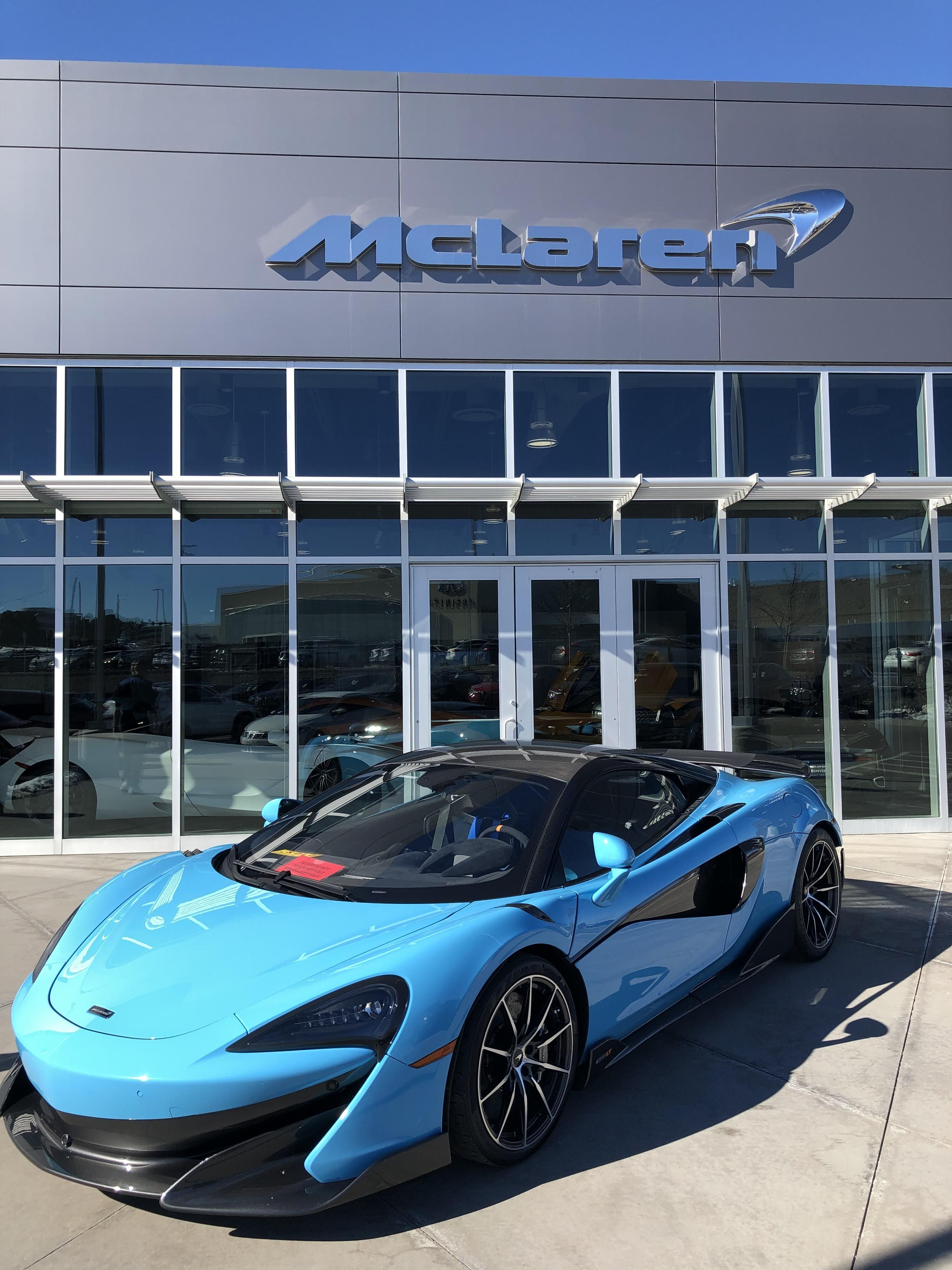 600lt In Curacao Blue At Mclaren Denver Posted By Imjustadudeguy Cars Motorcycles