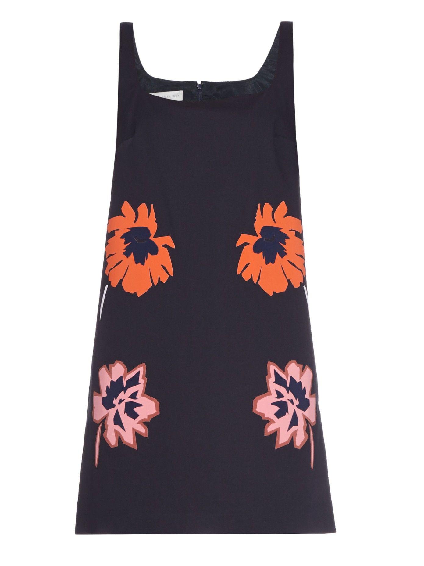 Melissa flower-appliqué mini dress by Stella McCartney | Shop now at #MATCHESFASHION.COM