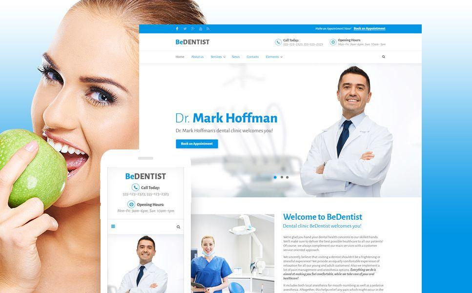 BeDentist Website Template HTML5 Themes Pinterest