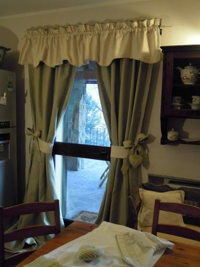 Tende per la cucina fai da te | cortinas | Home curtains, Curtains ...
