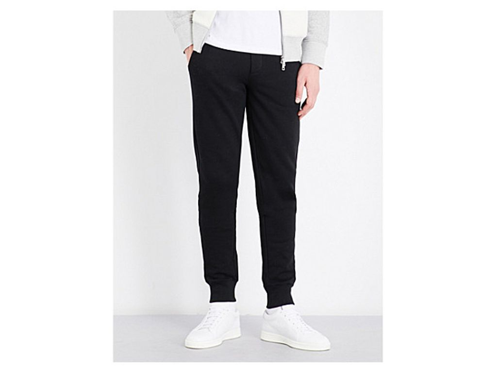 MONCLER Elasticated-cuff cotton-jersey jogging bottoms