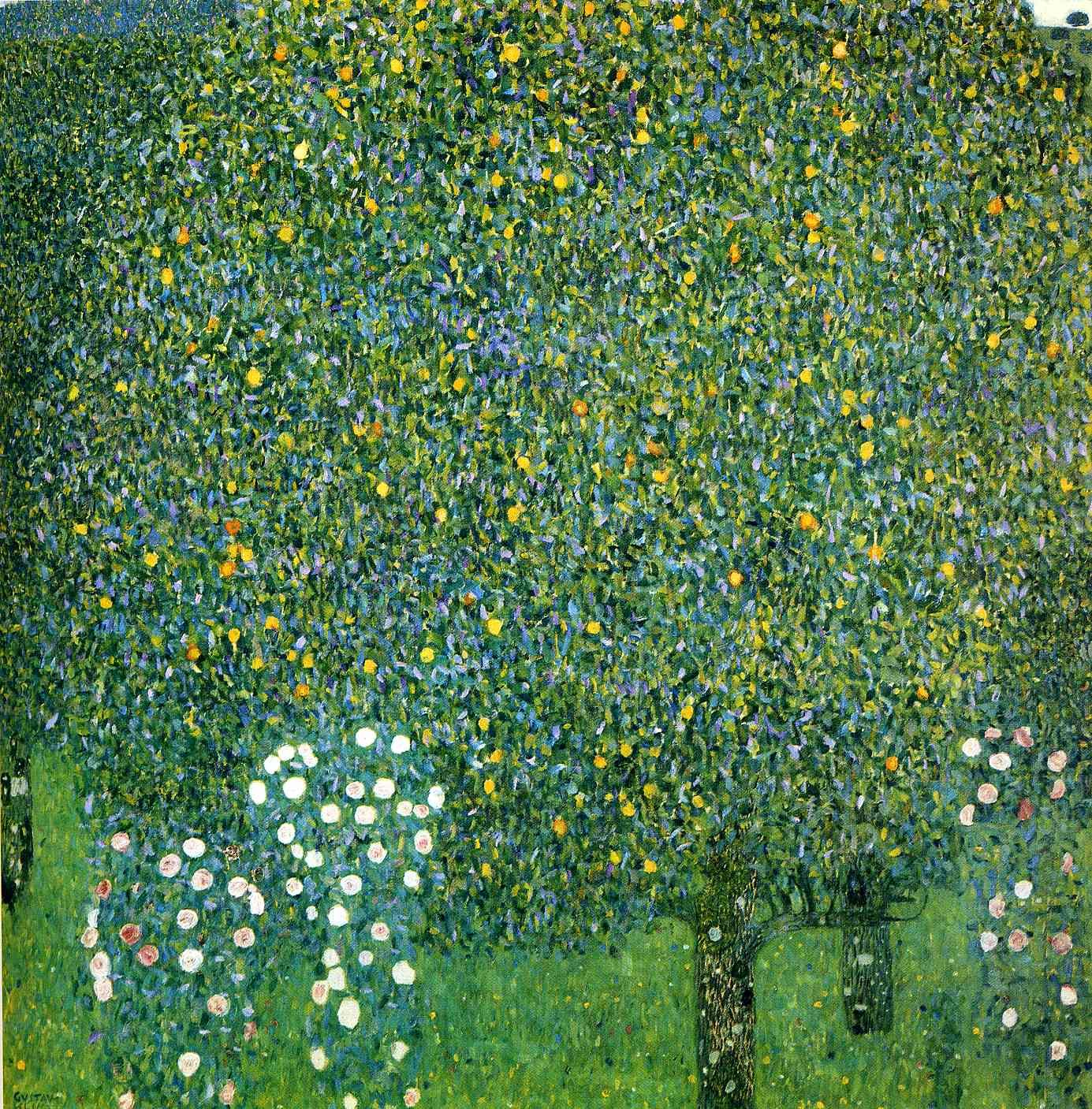 Roses under the trees by gustav klimt gustav klimt pinterest