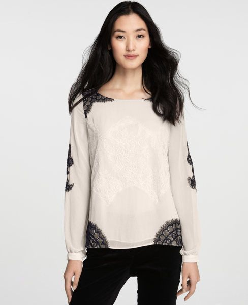 Moonglow Blouse by Ann Taylor, keyhole closure $98