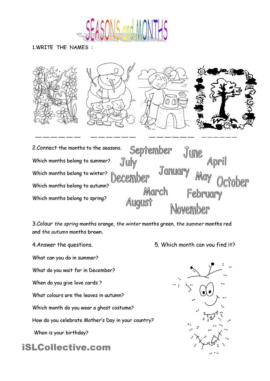 Uncategorized Seasons Worksheets months and seasons worksheet kindergarten level learn level
