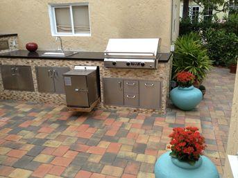 Smokintex Bbq Electric Smokers Outdoor Kitchens Featuring Smokintex Bbq Electric Smokers In 2020 Diy Outdoor Kitchen Outdoor Kitchen Design Outdoor Kitchen