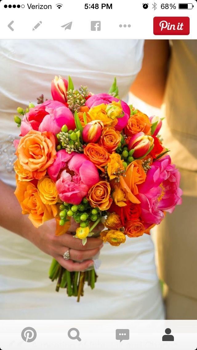 colorful wedding bouquet   Wedding Bouquets   Pinterest   Colorful ...