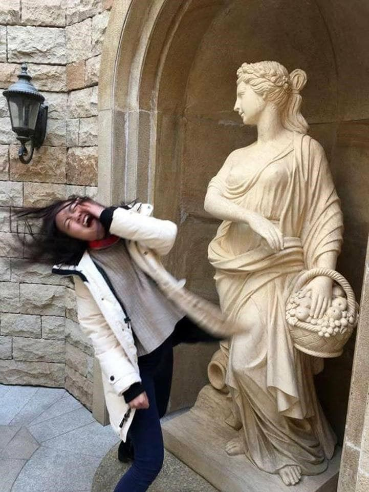 Latest Funny People 23 Times People Had More Fun with Statues than the Artist Intended Where you may see an enduring testament to history and the enduring human spirit, another person sees an amazing opportunity to make a statue look like he's kicking him in the crotch. #statues #funny #pictures 5