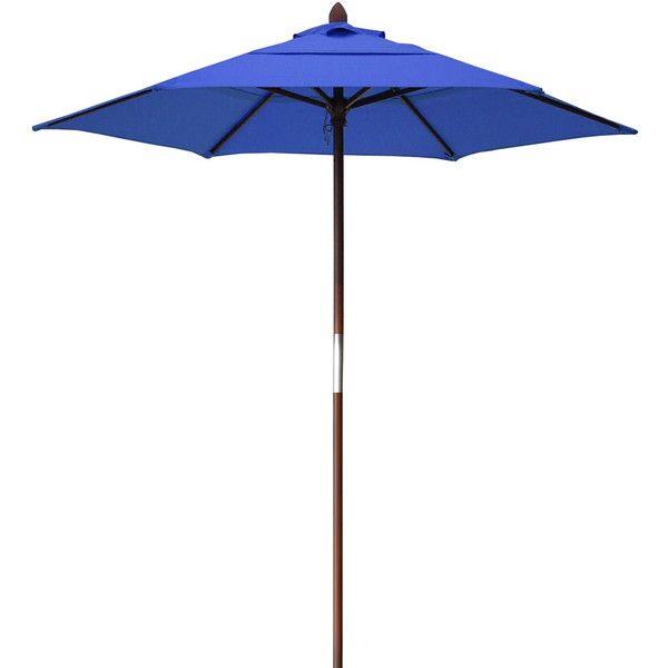 Resort 7 3/4 Foot Wood Beach Umbrella   Bed Bath U0026 Beyond (