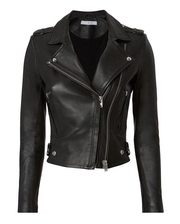 2e67cd562af IRO Dylan Black Leather Cropped Moto Jacket. #iro #cloth #jacket ...