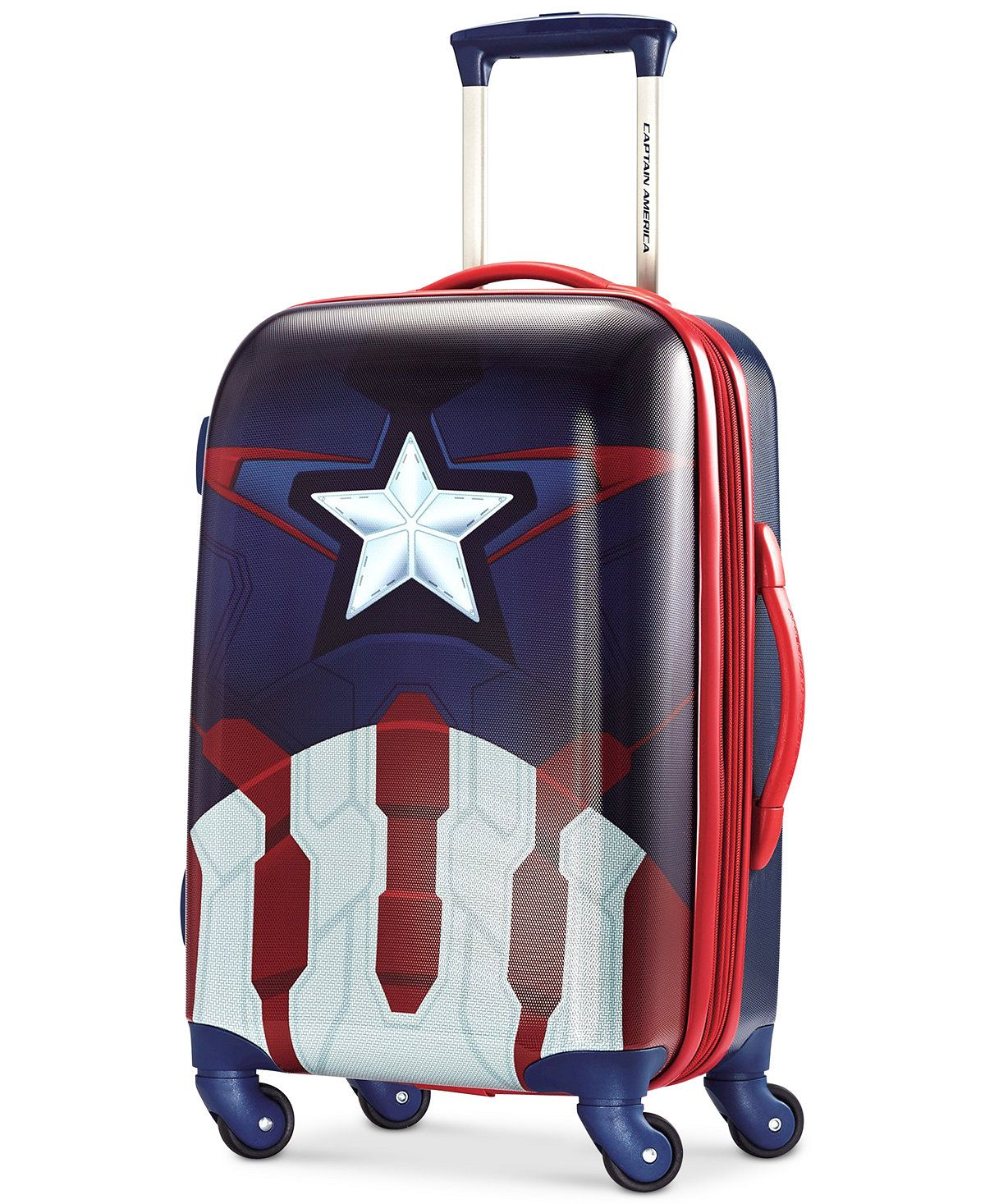Marvel Captain America 21 Hardside Spinner Suitcase By American Tourister All Luggage Luggage Captain America Luggage Marvel Luggage American Tourister