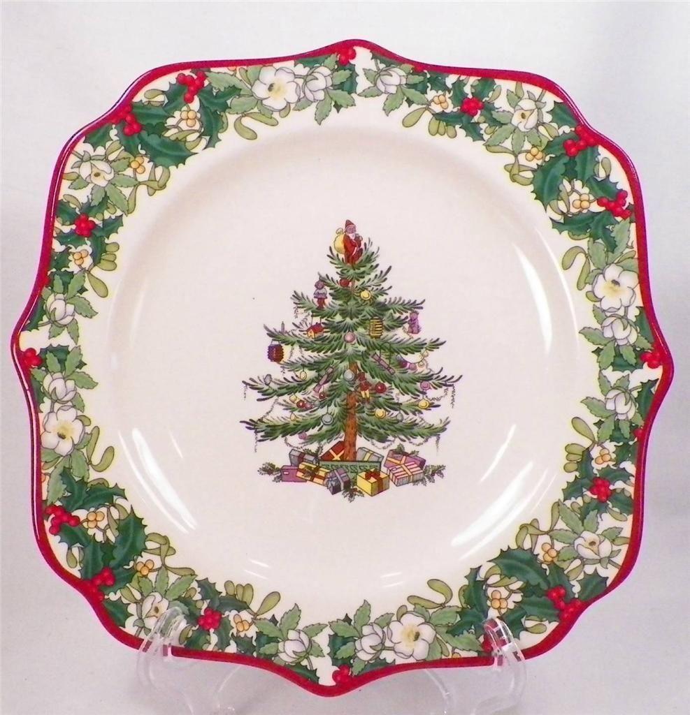 Spode Christmas Tree Sale: Spode Christmas Tree Square Fancy Plate 2008 Annual