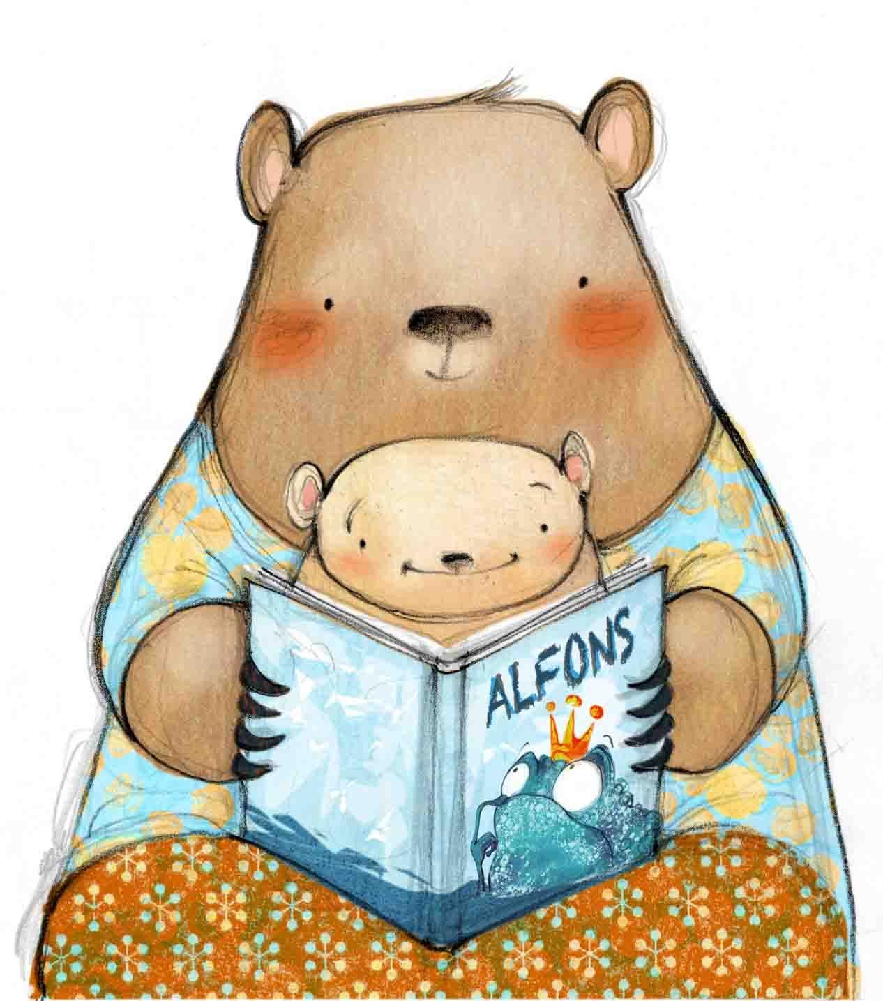 Lecturimatges La Lectura En Imatges Photo Ilustración De Oso Ilustración De Libros Para Niños Desván De Lectura