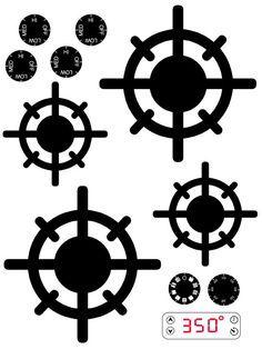 DESCARGAR DIGITAL juego cocina para imprimir calcomanías para proyectos de bricolaje.