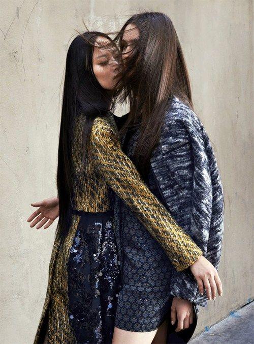 Mackenzie Drazan & Li Xiao Xing for Rodeo October 2013 by Johan Sandberg