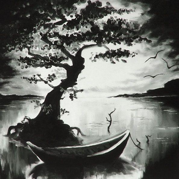 tree + boat by on deviantART