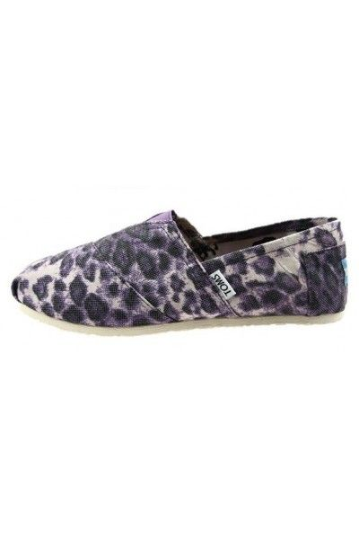 Cheap Toms Purple Leopard Womens Classics in Toms Outlet Store