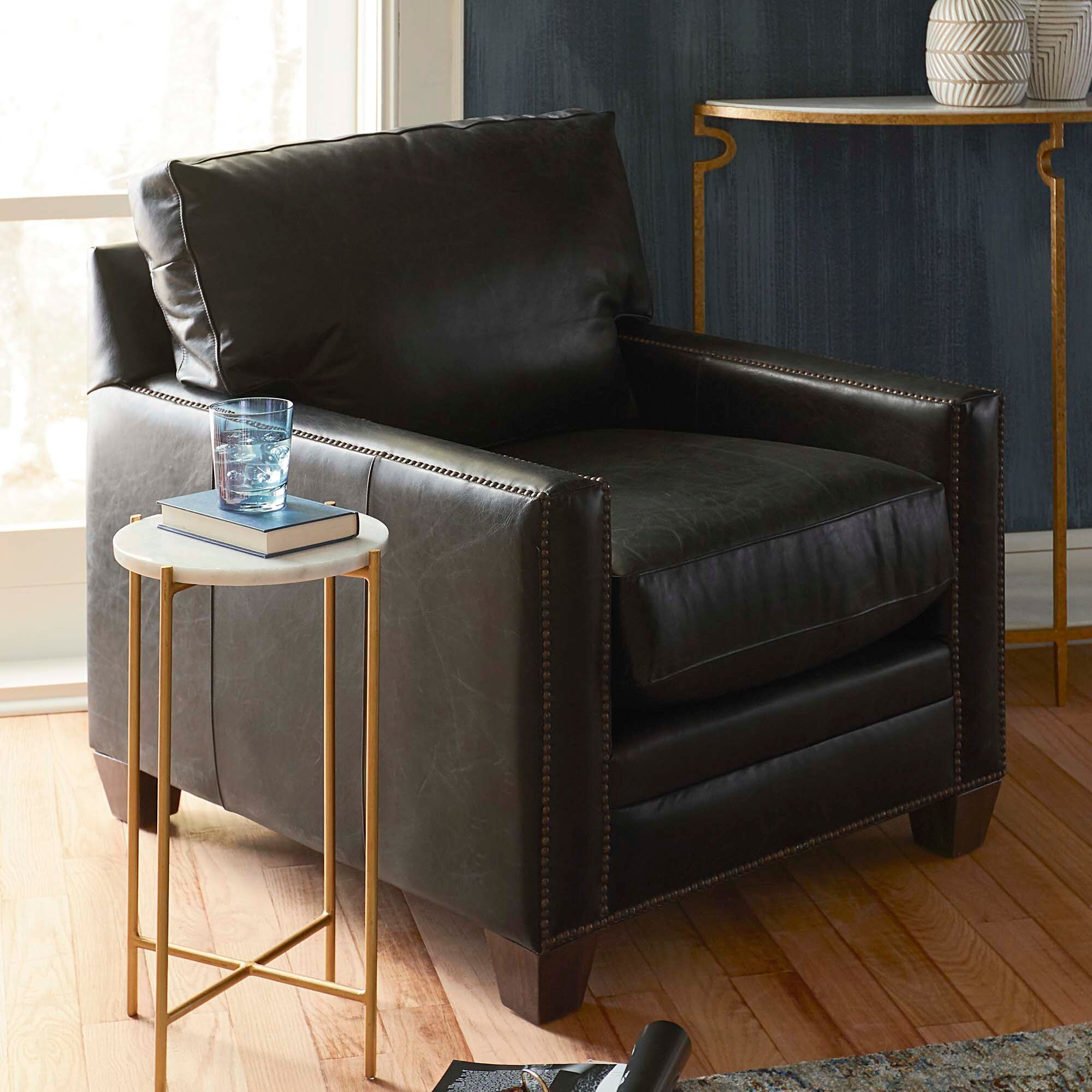 Ladson Leather Chair In 2020 Bassett Furniture Furniture Living Room Accent Tables