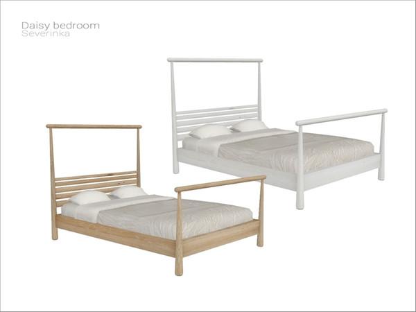 Severinka_'s [Daisy bedroom] double bed in 2020 Sims 4