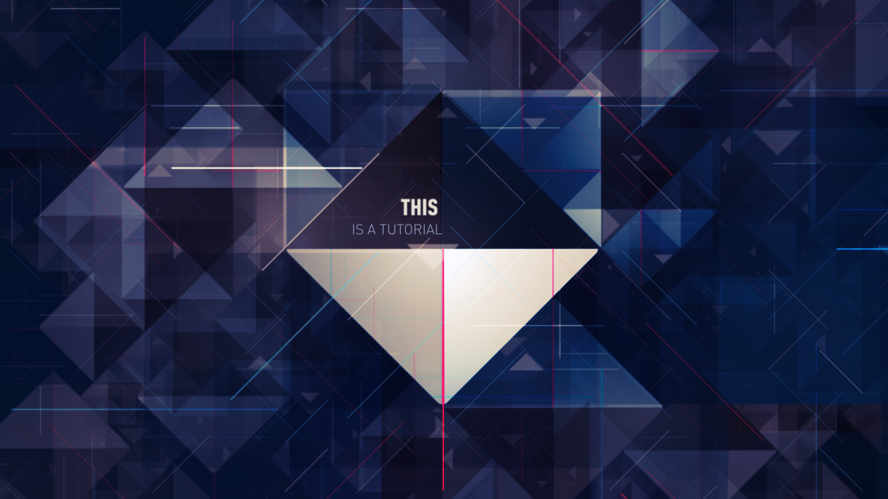 Isoscene - Animate a complex scene based on triangles on After Effects