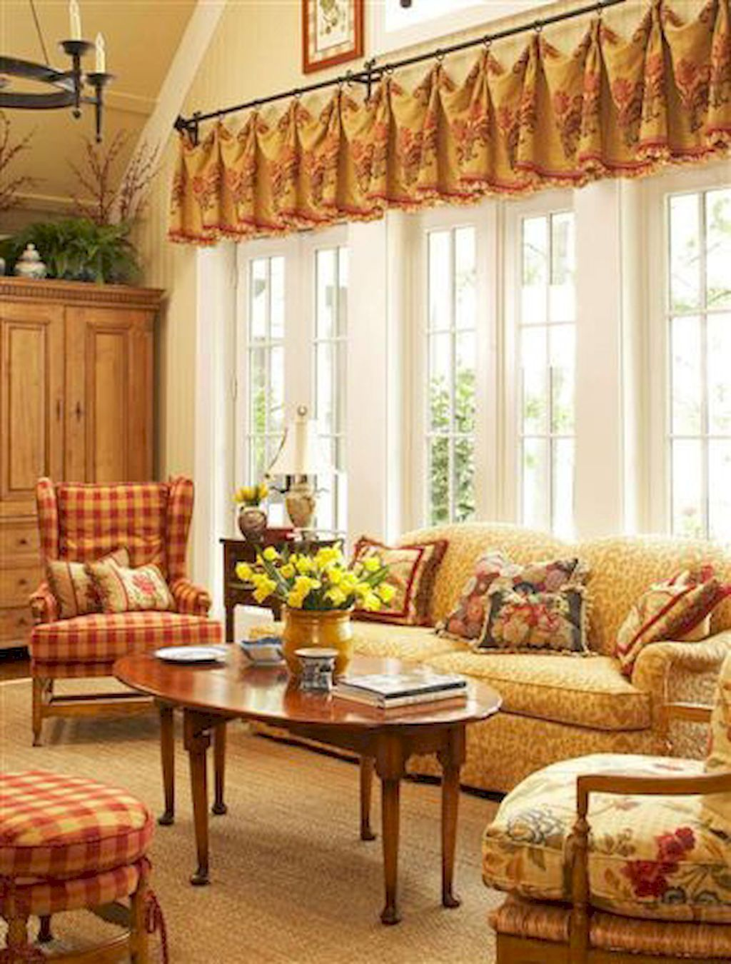 48 Fabulous French Country Living Room Design Ideas