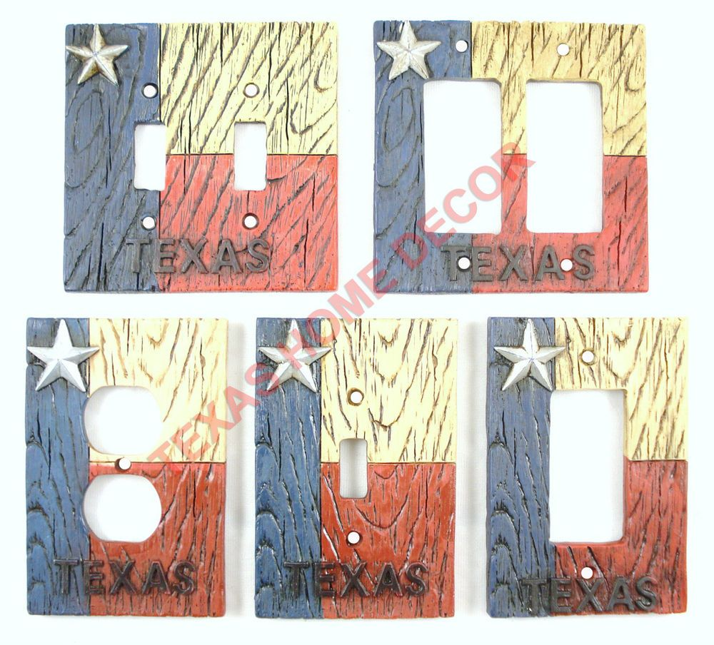 Rustic Switch Plate Covers Western Rustic Switch Plate Covers Texas Flag Star Electric Outlet