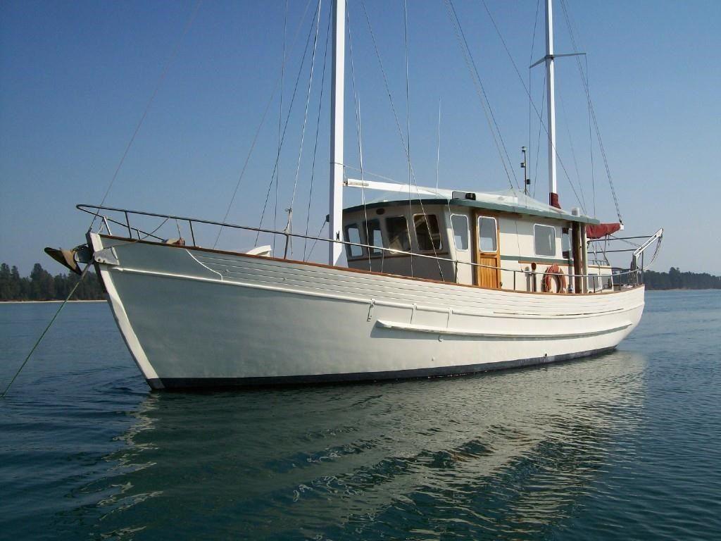 Motorsailer converted fishing boat for sale trade boats for Dinghy motor for sale