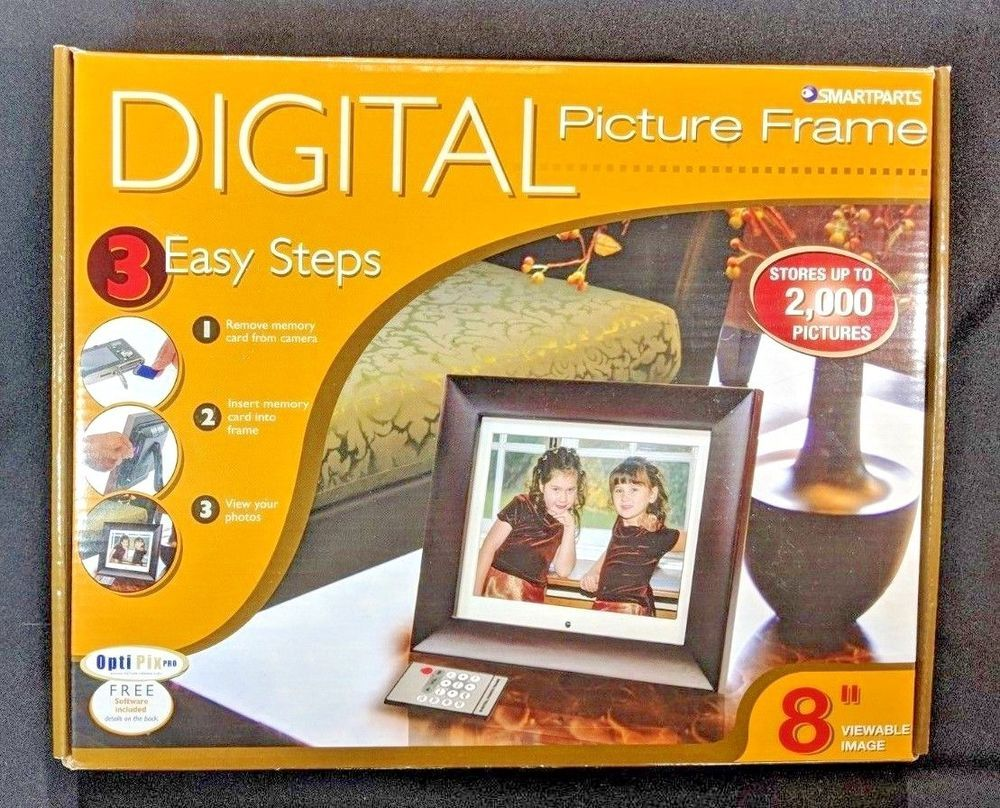 Smartparts Digital Wood Picture Frame w/ 8\