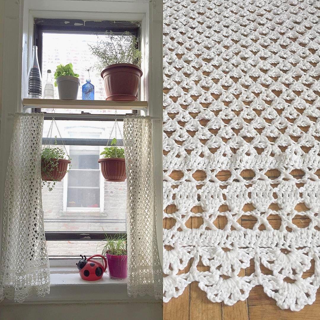 #crochet #curtain #cortina #ganchillo