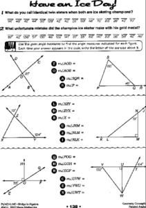 Have an Ice Day Worksheet | Hot Resources 2.4 | Angles worksheet ...