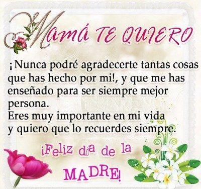 Frases Lindas Para El Dia De La Madre Mother Quotes