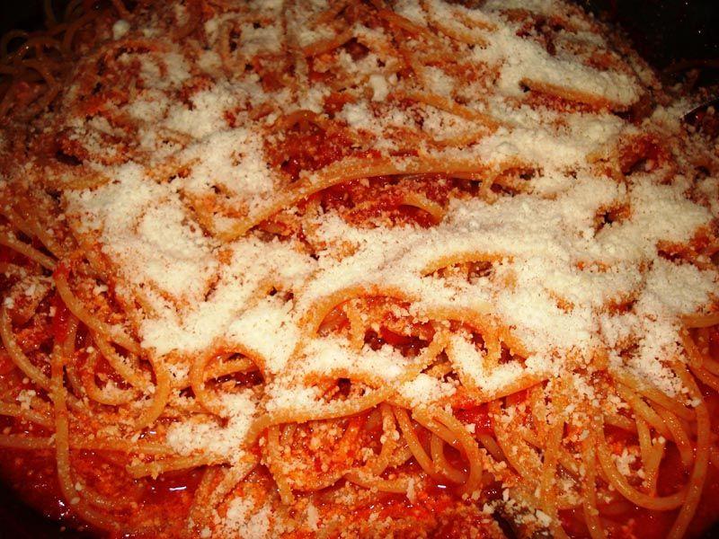 very Ricipe of Spaghetti alla matriciana or amatriciana