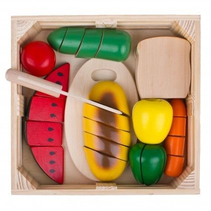 Melissa & Doug Cutting food set- my 3 year old can spend hours with this! busy toy ;)