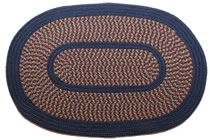 1776 Camellia Block Navy This High Quality Braided Rug Is Made By American Workers At Our Family Owned Business In The North Carolina Mountains It I Tapetes
