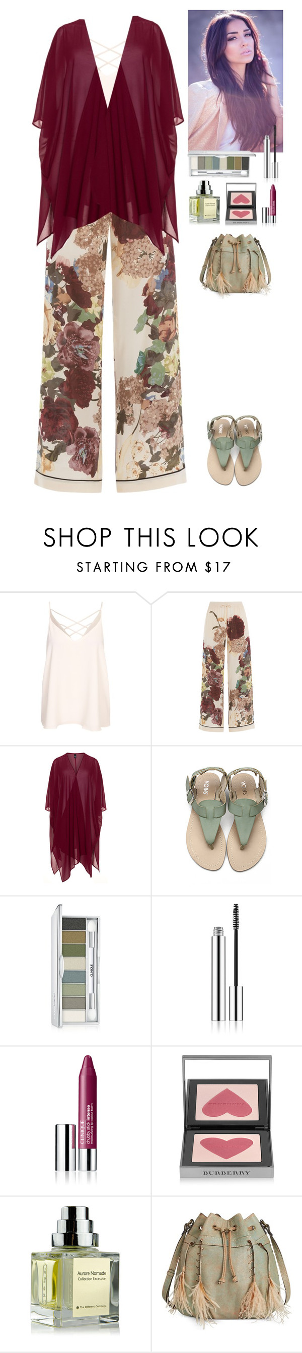 """""""Summer outfit (read the D)"""" by eliza-redkina ❤ liked on Polyvore featuring Valentino, Manon Baptiste, Clinique, Burberry, The Different Company, Patricia Nash, StreetStyle, outfit, like and look"""