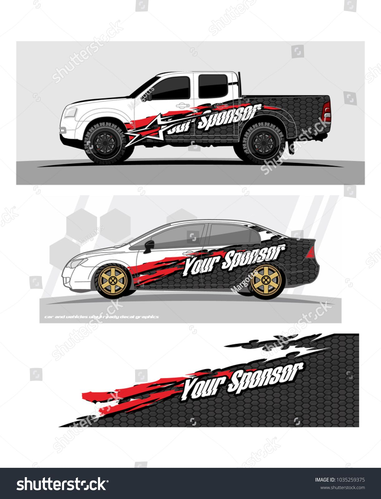 Abstract racing background graphic vector for car truck and vehicles vinyl wrap