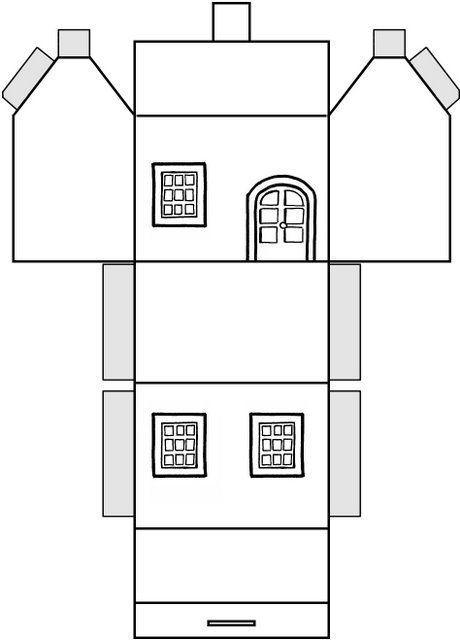 Moldes para hacer casas en cartulina imagui casitas - Casitas para pesebre de carton ...