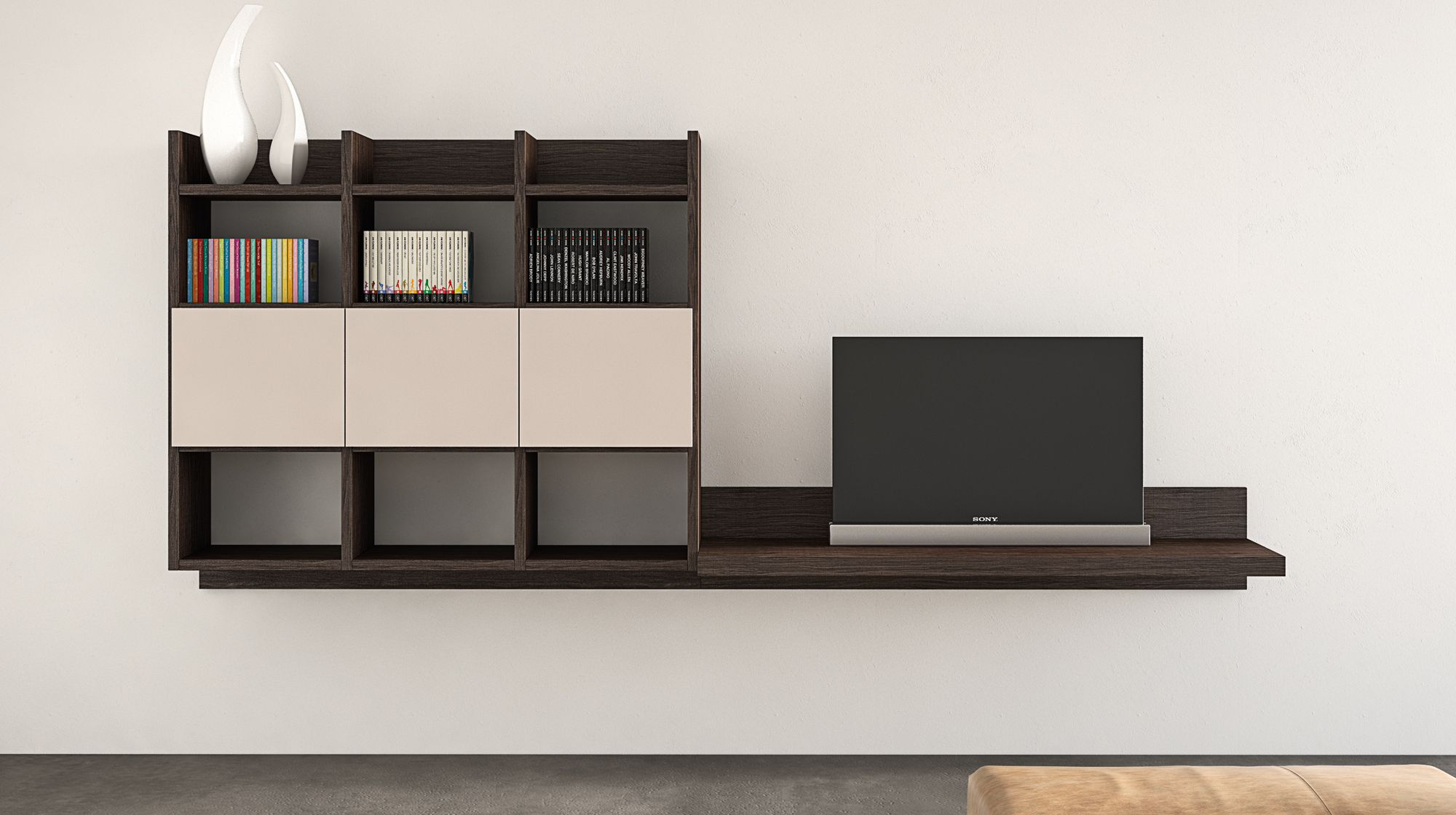 MENSOLE - Le nuove mensole porta tv e porta oggetti si combinano co ...