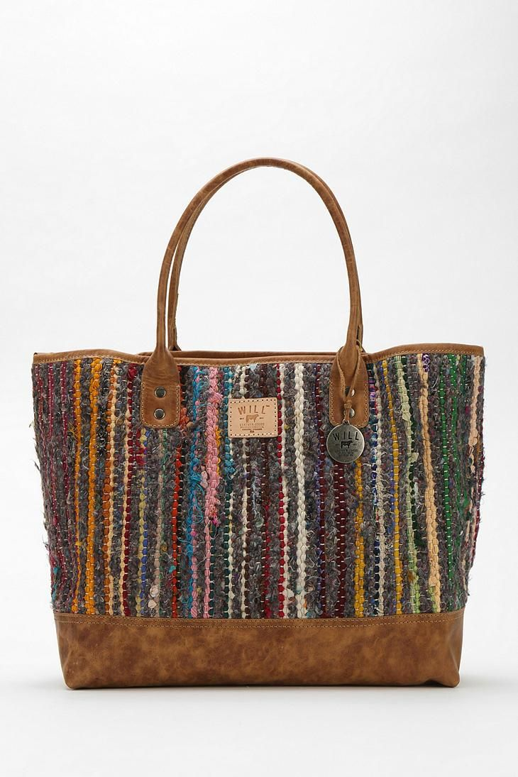 Will Leather Goods Silk Rag Rug Tote Bag  urbanoutfitters  57c04f3a7890c