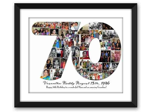 70th Birthday Photo Collage More