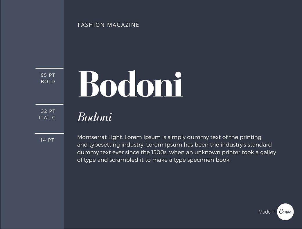 resume heading fonts