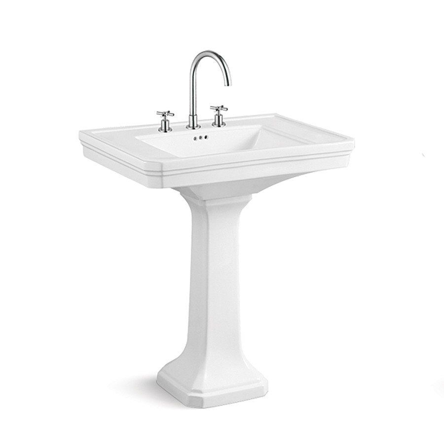 Randolph Morris 30 Inch Pedestal Sink 8 Inch Faucet Drillings Pedestal Sink Sink Pedestal Sinks 30 inch pedestal sink