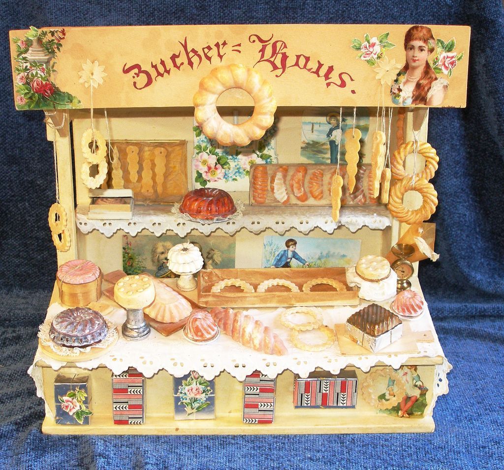 Antique Open-Air Market Toy BAKERY Stand!   Antique ...